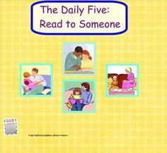 FREE Daily 5 SMART Board lessons to introduce and help your class practice the steps for each of the 5 Daily 5 literacy tasks.