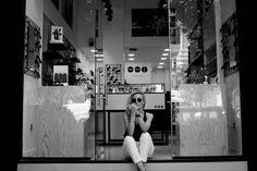 Aimilia at KOMONO store . Thessaloniki, Greece .