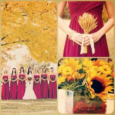 Burgundy and mustard wedding theme--very fall appropriate ...
