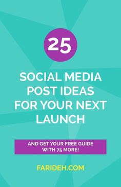 25 Social Media Post Ideas for Your Next Launch  Your social promo formulas explained: Handing you a bunch of social promo formulas isn't all that useful unless you know what they mean. Here's 25 social media posts and everything you need to know about them ;) Click through or save for later!