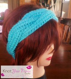 Braided Crochet Headband A crochet version of iKnits Plaited Headband video tutorial on YouTube. It works up fast and is easy to put toget...