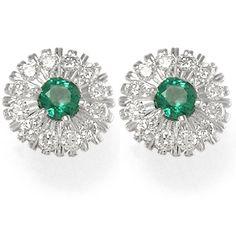 emerald jewelry | Anzor Jewelry - Russian Jewelry Diamond Emerald Earrings 18k Gold