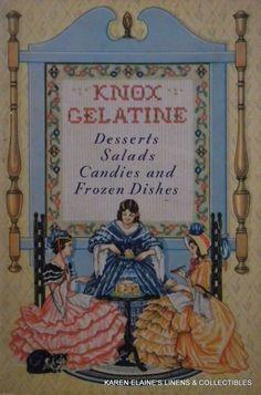 1936 Knox Gelatine Desserts Salads Candies & Frozen Dishes Cooking Booklet