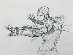 Ironman rough sketch on Behance