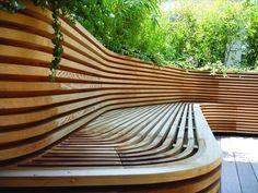 HappyModern.RU | Скамейки из дерева (45 фото): разнообразие форм и стилей | http://happymodern.ru