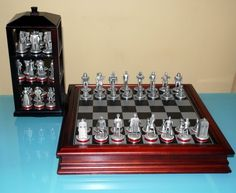 1000 images about collections chess sets on pinterest chess sets chess pieces and chess - Chess board display case ...