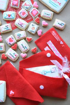 """'Special Delivery Cookies' recipe - Things in miniature are always big on cute. These tiny """"sent-with-love"""" envelope cookies are a good case in point. They are super simple to make, and something anyones sweetheart would love to receive!"""