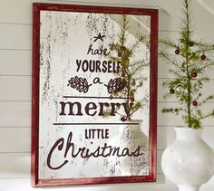 Merry Little Christmas Pottery Barn Knock Off