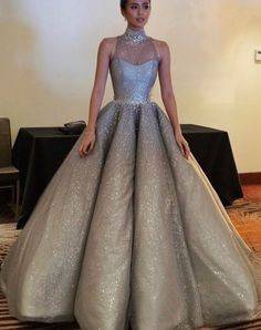 Sparkle Halter New Arrival Inexpensive Evening Long Prom Dresses Ball Gown fe14dde5d044