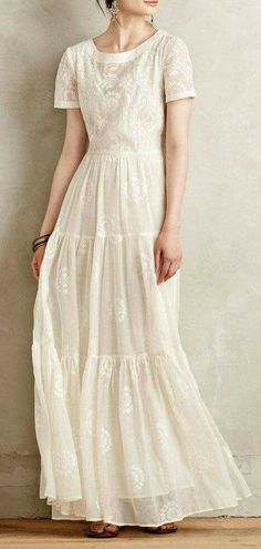 Breezy white dress for summer weekends