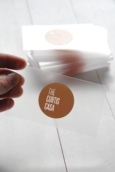 Acrylic Business Cards | the curtis casa in Business cards