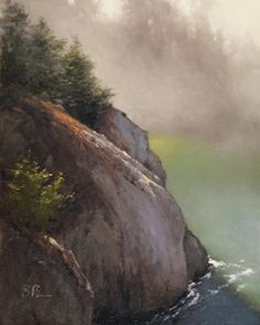 Morning Mist at China Cove by Brian Blood Oil ~ 20 x 16