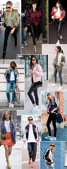 jaqueta bomber de cetim é tendencia! aposte já Stylish Outfits, Cool Outfits, Outfits Winter, Bomber Jacket Outfit, Street Style Summer, Winter Looks, Autumn Winter Fashion, Ideias Fashion, My Style