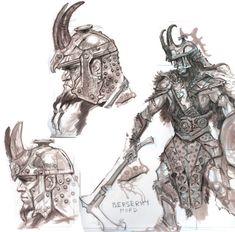 Nord Armor concept art from The Elder Scrolls V: Skyrim by Adam Adamowicz Skyrim Concept Art, Game Concept Art, Armor Concept, Fantasy Armor, Medieval Fantasy, Dark Fantasy, Fantasy Character Design, Character Concept, Skyrim Wallpaper