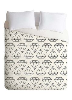 Diamond Duvet Cover #diamond #decor