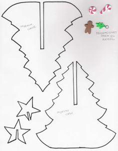 ARTE COM QUIANE - Paps, Moldes, E.V.A, Feltro e Costuras: Molde Arvore de Natal de e.v.a