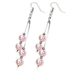 PINK COLOURED BEADED EARRINGS