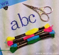 WR Artes (Blog do Wagner Reis): Alfabeto para Ponto Cruz iniciante e fácil