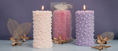 Pillar Candles - Decorative candles - Christmas Candles - Scented candles by AmeliaCandles on Etsy https://www.etsy.com/listing/175306824/pillar-candles-decorative-candles