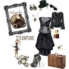 Steampunk, created by roz-harman on Polyvore