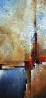 """Mark Yearwood Art Streszczenie: """"Vertical Horizon"""" Malarstwo akrylowe szpachla"""