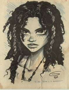Shorter dreads and make the paint freckles, this looks a lot like Mads (Tia Dalma SDCC Sketch 2011 by grantgoboom)