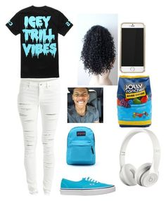 """""""Icey ❄️"""" by oohsheyoungin ❤ liked on Polyvore featuring VILA, Vans, JanSport, Hard Candy and Beats by Dr. Dre"""