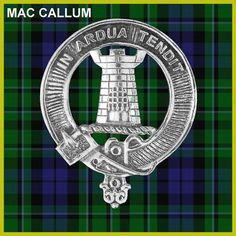 Mac Callum Clan Crest Scottish Cap Badge CB02 by celticstudio
