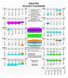 disd calendar for 2015 spring break