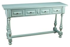 One Kings Lane - Top Tables - Ana 2-Drawer Console Table, Powder Blue
