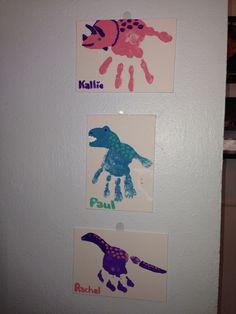 Dino handprints