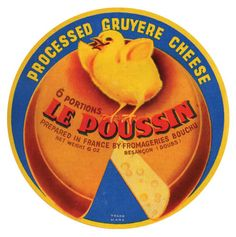 Vintage cheese labels