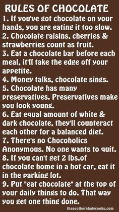 Rules of Chocolate
