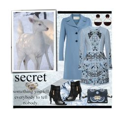 """""""Animals in the Snow"""" by affton ❤ liked on Polyvore featuring Valentino, Needle & Thread, Coach and Marni"""