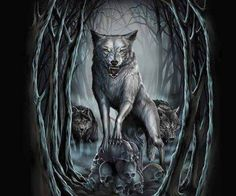 have been lost to the mysteries of what lies beyond this realm. Fantasy World, Dark Fantasy, Fantasy Art, Scary Wolf, Wolf Background, Beautiful Dark Art, Art Pages, Horror Stories, Werewolf
