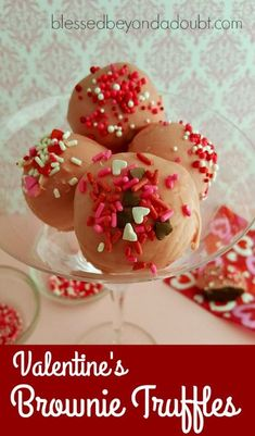 Valentine's Day is the perfect day to make special treats for that special someone. My kids look forward to giving these easy Valentine's Brownie Truffles to their teachers with a little sweet note.