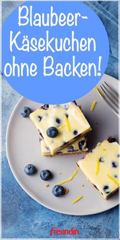 Blueberry cheesecake - without Blaubeer-Käsekuchen – ohne Backen Baking without an oven? This fruity blueberry cake is simple, quick and super tasty and does not require any baking - Blueberry Cake, Blueberry Cheesecake, Cheesecake Recipes, Cupcake Recipes, Cookie Recipes, Snack Recipes, Snacks, Food Cakes, Pumpkin Spice Cupcakes