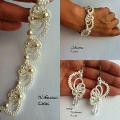 Crochet Mini Bead Flower Strin
