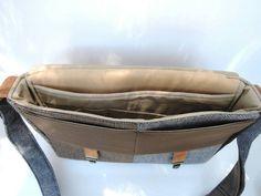 Messenger Bag sac de Mens Womens laptop Messenger par SewMuchStyle