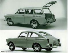 Volkswagen Variant Type 3: 1600 Squareback & 1500 Fastback. Masa produksi: 1961-1973.