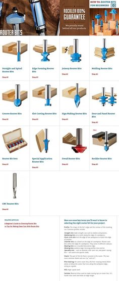 Not sure what kind of router bit you need? We can help answer your questions or . - Not sure what kind of router bit you need? We can help answer your questions or you can check out o - Woodworking Power Tools, Router Woodworking, Woodworking Techniques, Woodworking Tools, Woodworking Apron, Woodworking Machinery, Woodworking Equipment, Youtube Woodworking, Woodworking Patterns