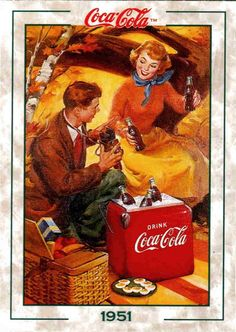 Old coca-cola ad in an autumn settingRenee lawless