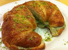 Croissant with organic pistachio cream from Sicily.