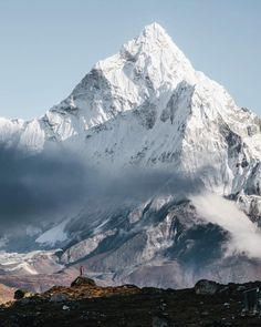 Not sure if I get this mountain out of my head any time soon. We are just so small. Head over to the @bergwelten magazine account as I'm taking it over for the next few days posting even more images of my latest Nepal trip. Namaste...