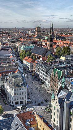 Copenhagen skyline, Denmark