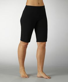 Look at this #zulilyfind! Black Tummy Control Bermuda Shorts by Marika #zulilyfinds
