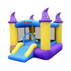 Bouncy Castle Bounce House With Slide Kids Inflatable Bouncing Houses Jumper NEW #BouncyCastleBounceHouseWithSlideKids