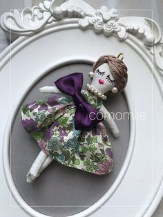 リバティルルベちゃん Cute Dolls, Softies, Doll Clothes, Embroidery, Toys, How To Make, Making Dolls, Handmade Dolls, Textile Sculpture