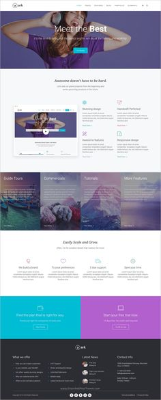 best home security lead capturing landing page design template ...