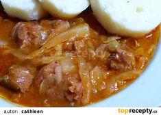 Hovězí kližka v zelí recept - TopRecepty.cz Chili, Pork, Diet, Cooking, Kale Stir Fry, Chile, Chilis, Pork Chops